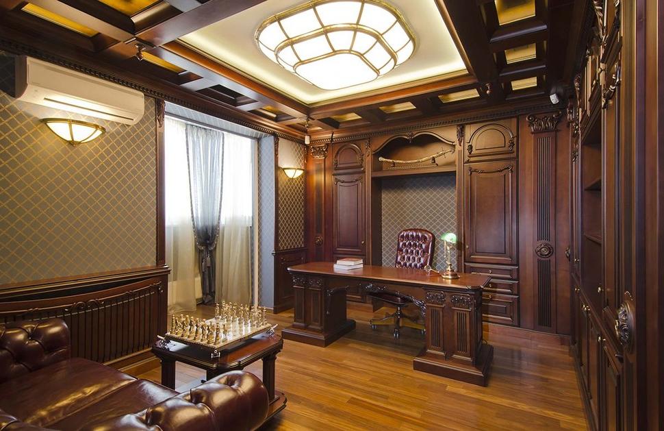 Потолок для кабинета квартиры фото