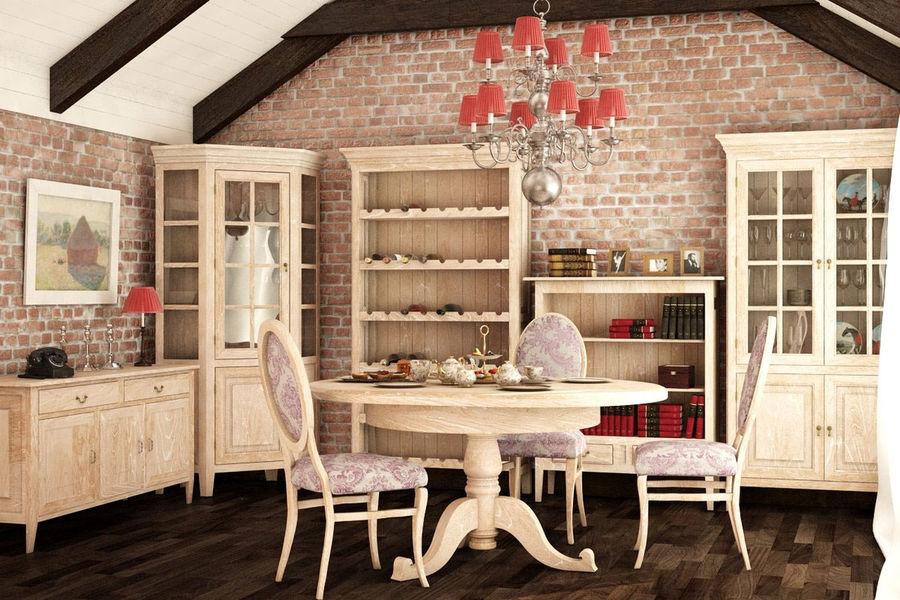 """Мебель в стиле """"Прованс"""" для гостиной"""