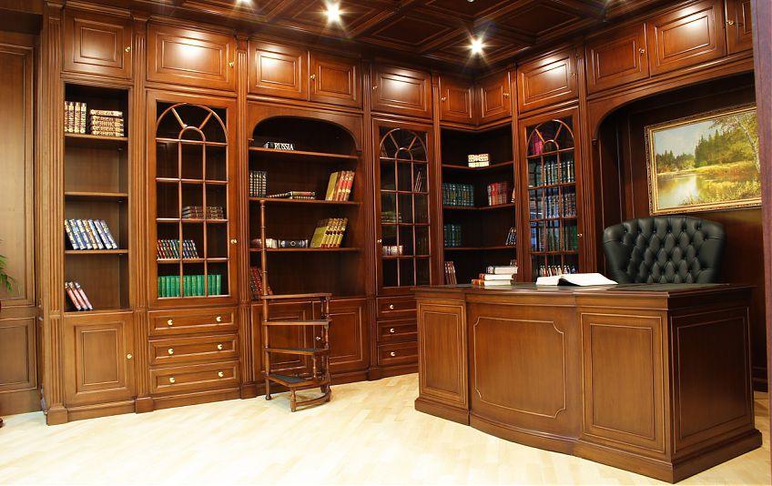 Библиотка в кабинете
